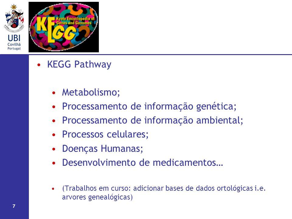 Processamento de informação genética;