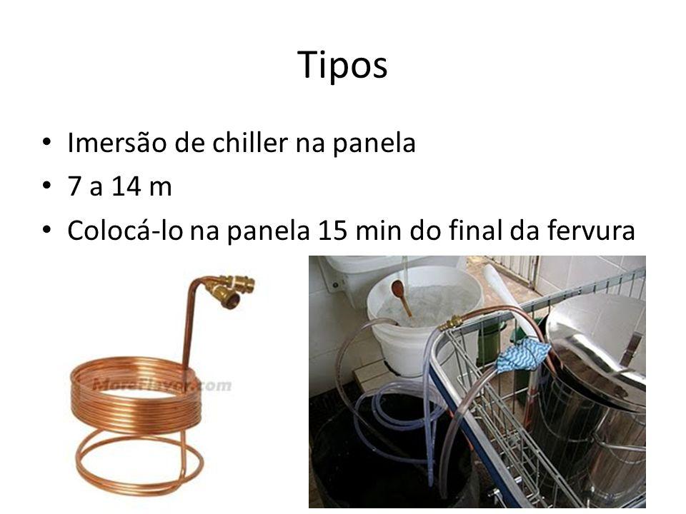Tipos Imersão de chiller na panela 7 a 14 m
