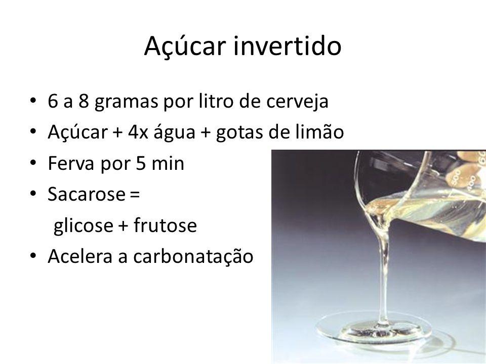 Açúcar invertido 6 a 8 gramas por litro de cerveja