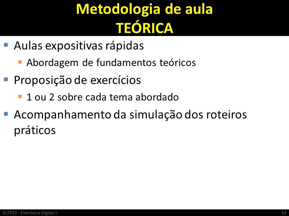 Metodologia de aula TEÓRICA