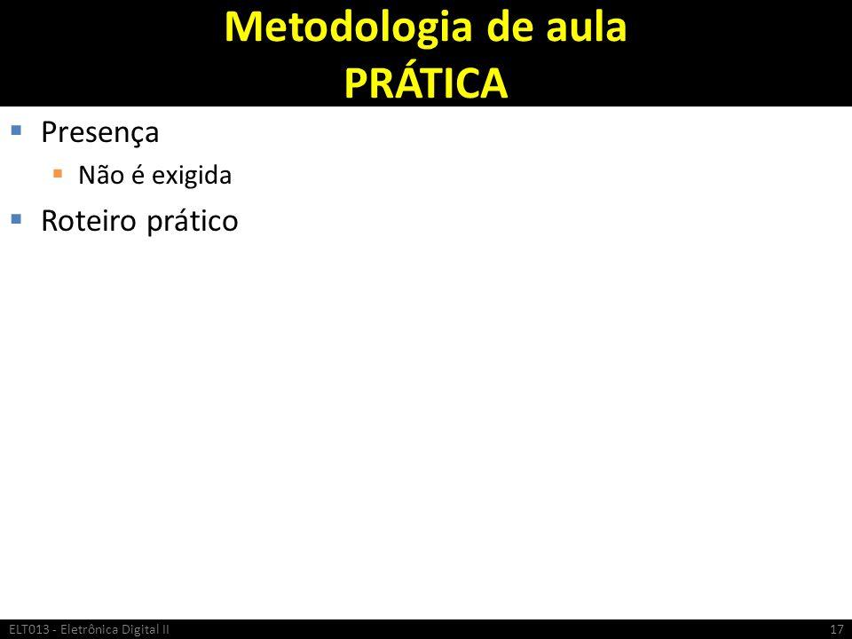 Metodologia de aula PRÁTICA