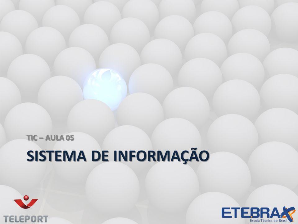 TIC – AULA 05 Sistema de informação