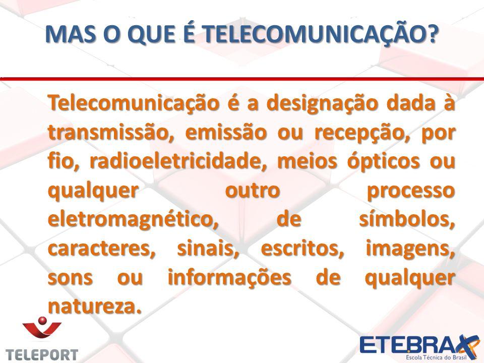 Mas o que é telecomunicação