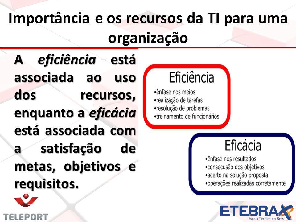 Importância e os recursos da TI para uma organização