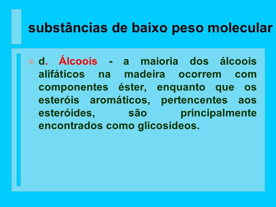substâncias de baixo peso molecular
