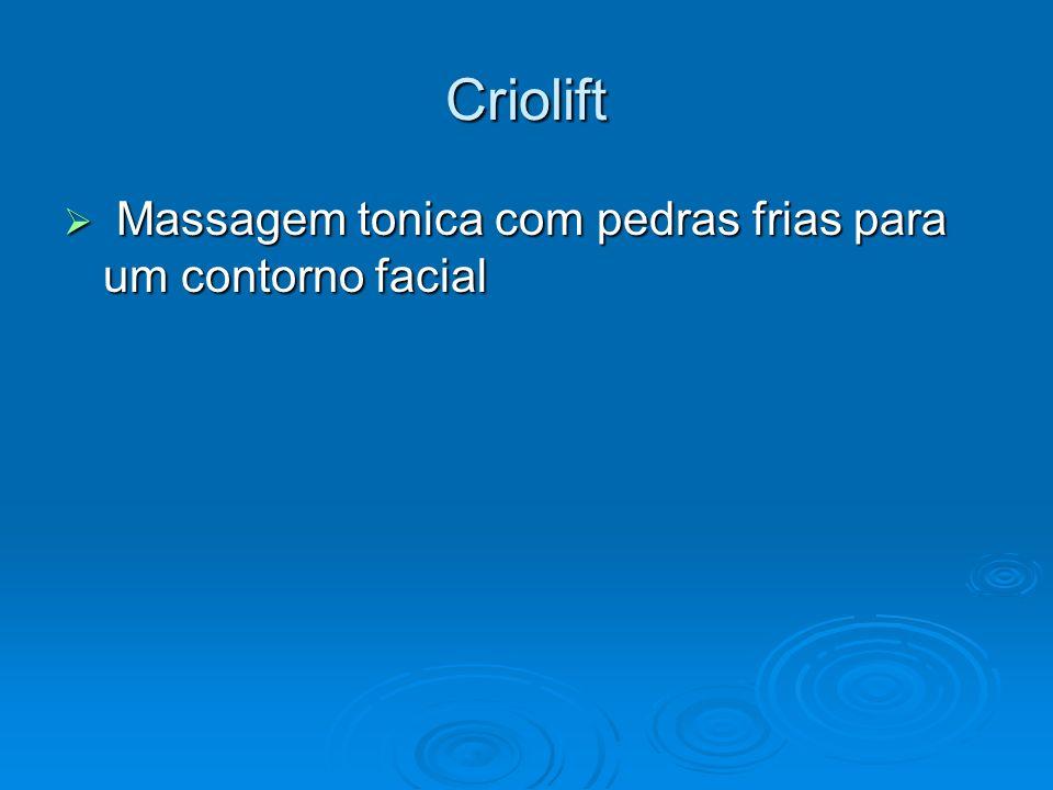 Criolift Massagem tonica com pedras frias para um contorno facial