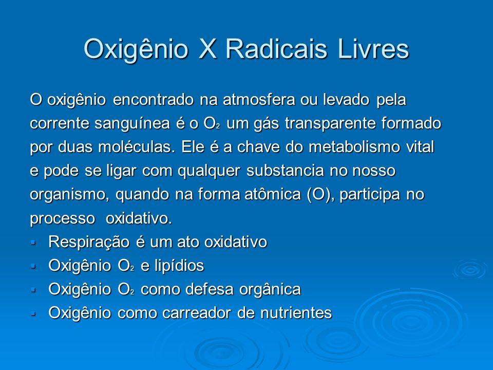 Oxigênio X Radicais Livres