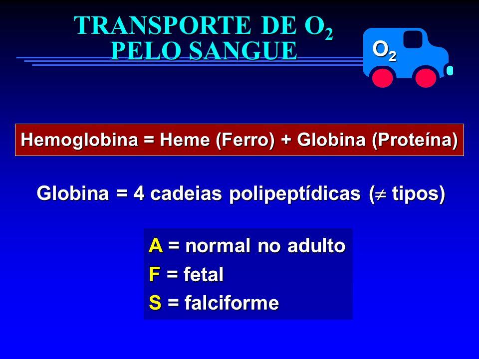 TRANSPORTE DE O2 PELO SANGUE