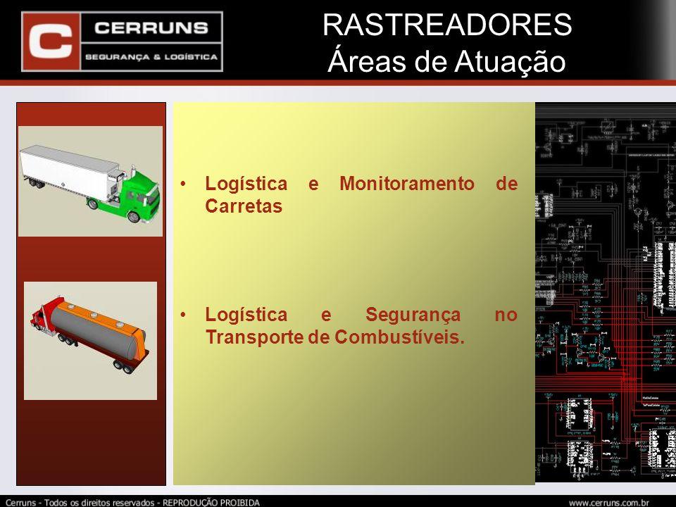 RASTREADORES Áreas de Atuação Logística e Monitoramento de Carretas