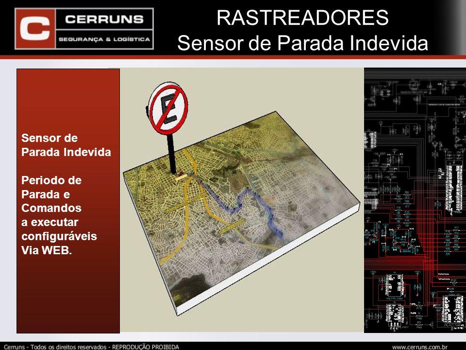 RASTREADORES Sensor de Parada Indevida