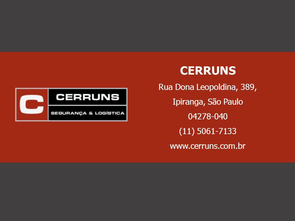 CERRUNS Rua Dona Leopoldina, 389, Ipiranga, São Paulo 04278-040