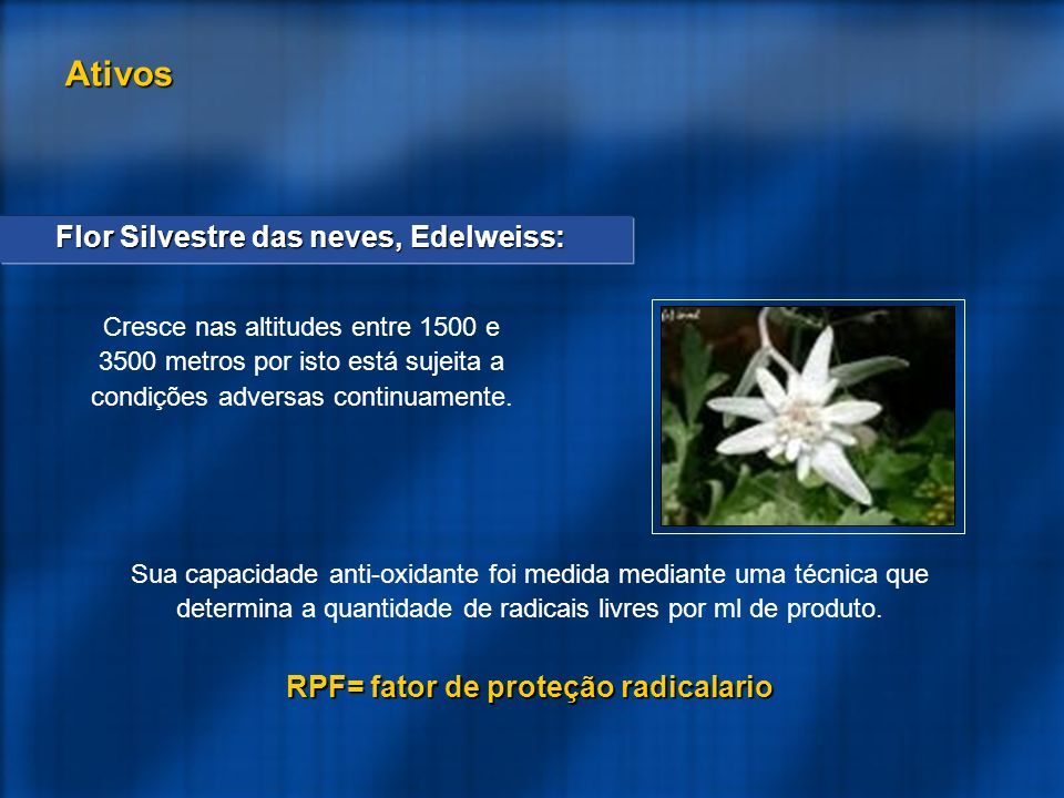 RPF= fator de proteção radicalario
