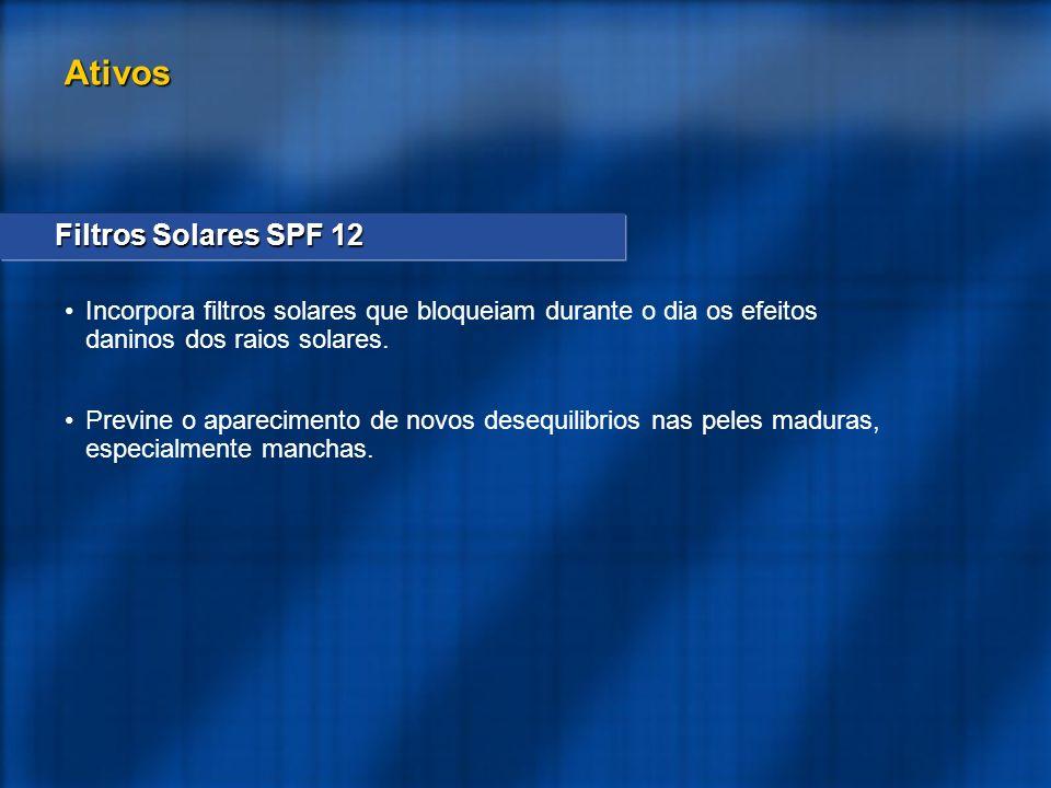 Ativos Filtros Solares SPF 12