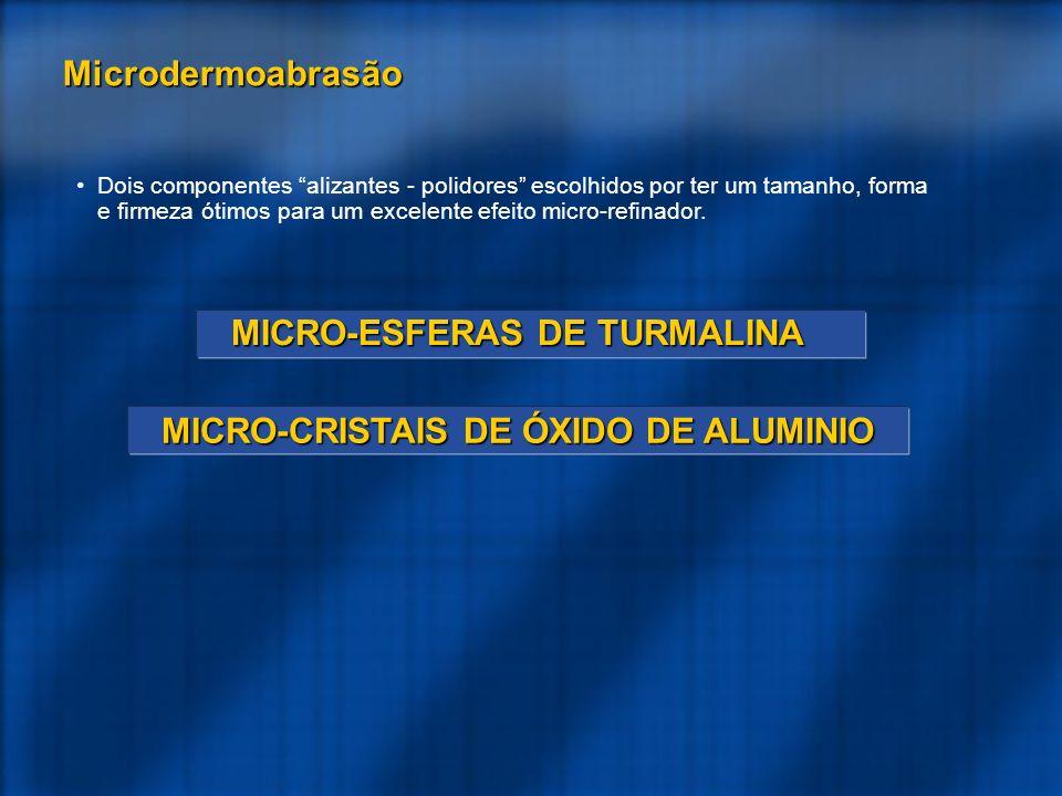 MICRO-ESFERAS DE TURMALINA MICRO-CRISTAIS DE ÓXIDO DE ALUMINIO