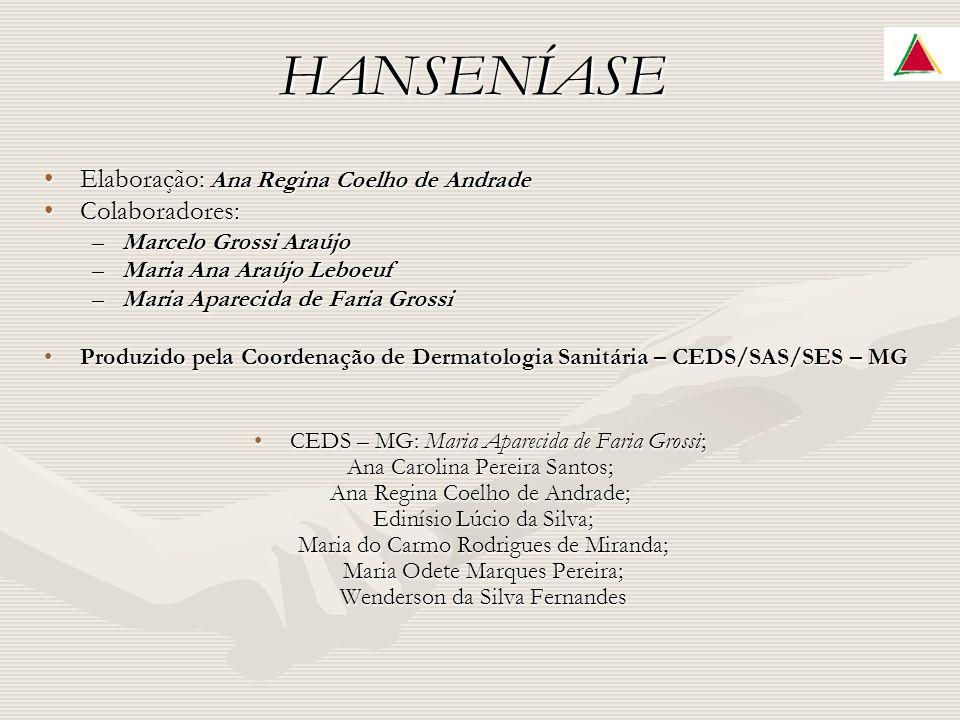 HANSENÍASE Elaboração: Ana Regina Coelho de Andrade Colaboradores: