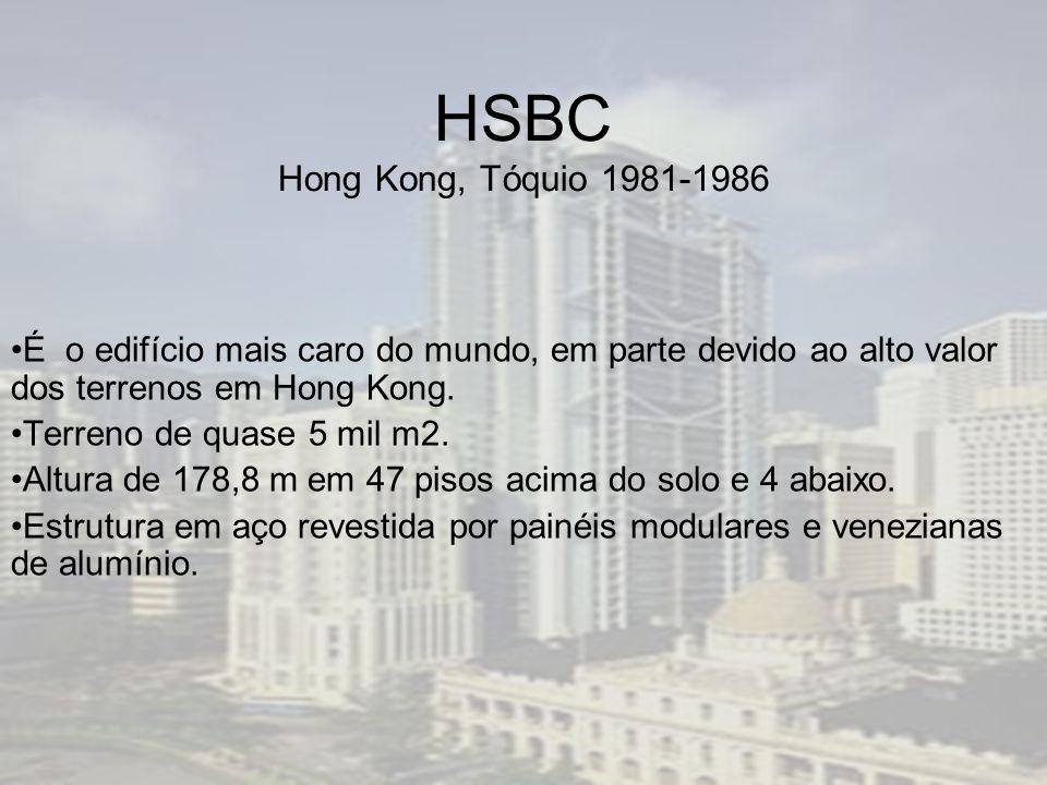 HSBC Hong Kong, Tóquio 1981-1986 É o edifício mais caro do mundo, em parte devido ao alto valor dos terrenos em Hong Kong.
