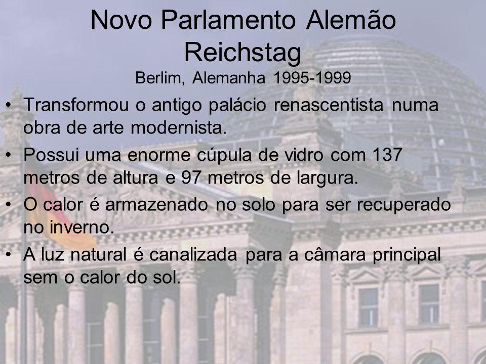 Novo Parlamento Alemão Reichstag Berlim, Alemanha 1995-1999