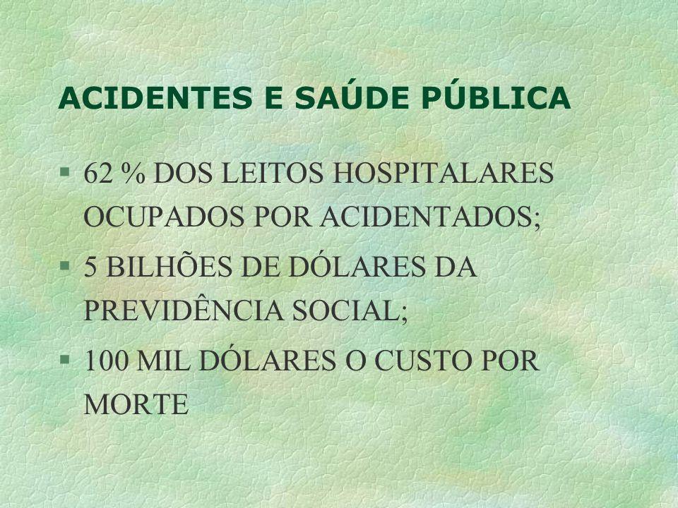 ACIDENTES E SAÚDE PÚBLICA