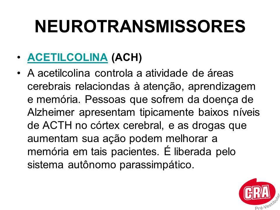 NEUROTRANSMISSORES ACETILCOLINA (ACH)