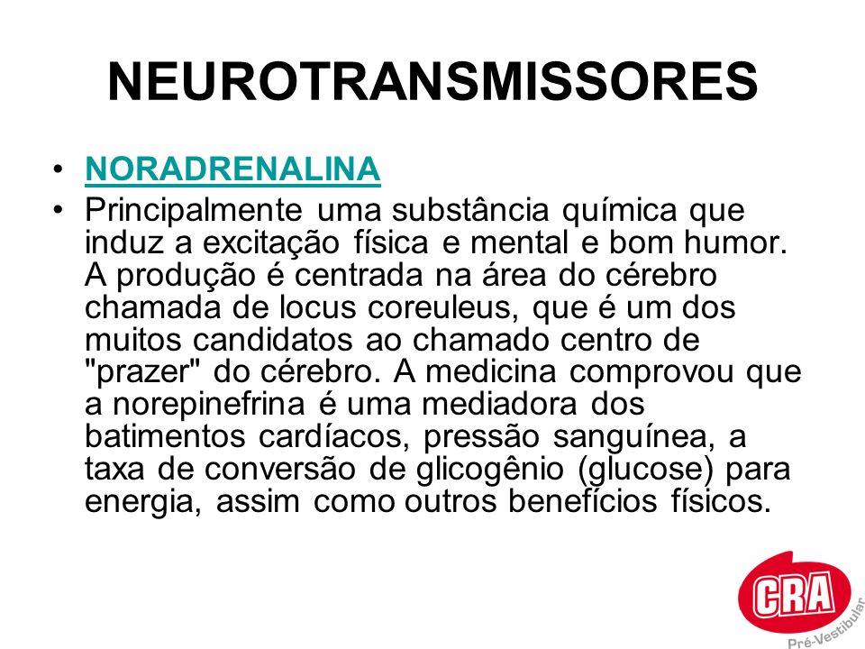 NEUROTRANSMISSORES NORADRENALINA