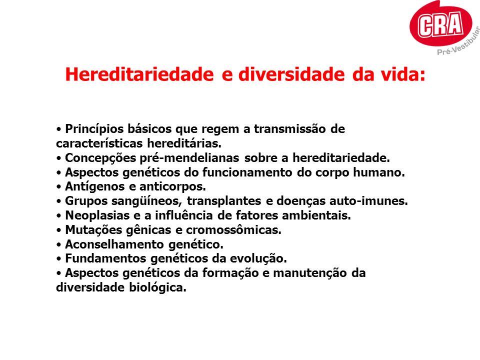Hereditariedade e diversidade da vida: