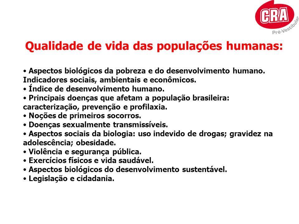 Qualidade de vida das populações humanas: