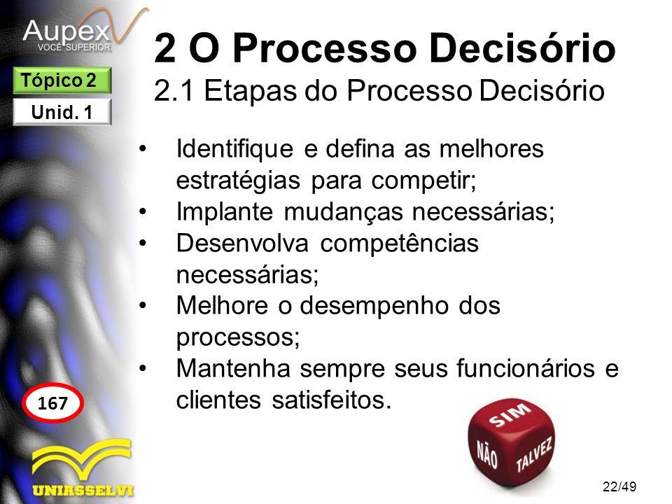2 O Processo Decisório 2.1 Etapas do Processo Decisório