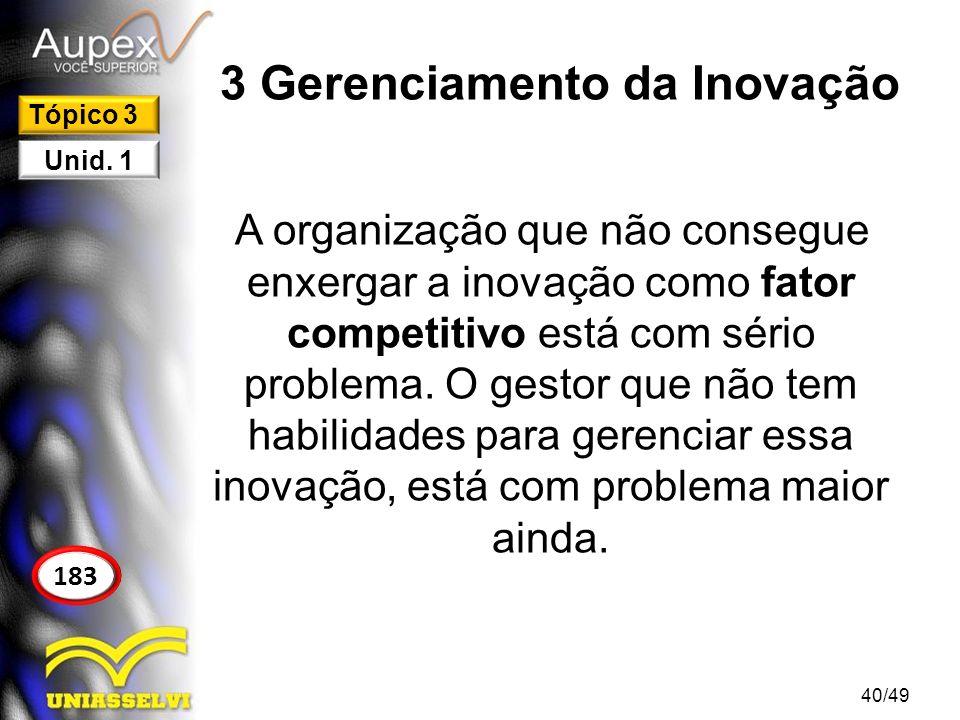 3 Gerenciamento da Inovação
