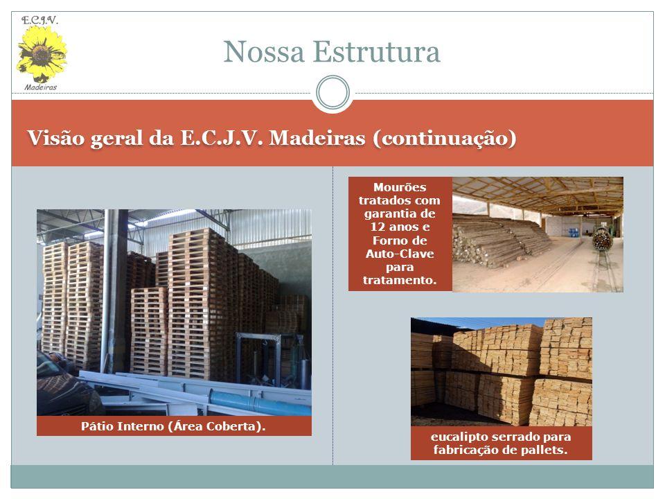 Nossa Estrutura Visão geral da E.C.J.V. Madeiras (continuação)