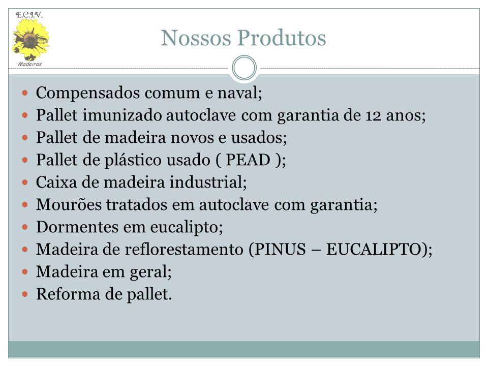 Nossos Produtos Compensados comum e naval;