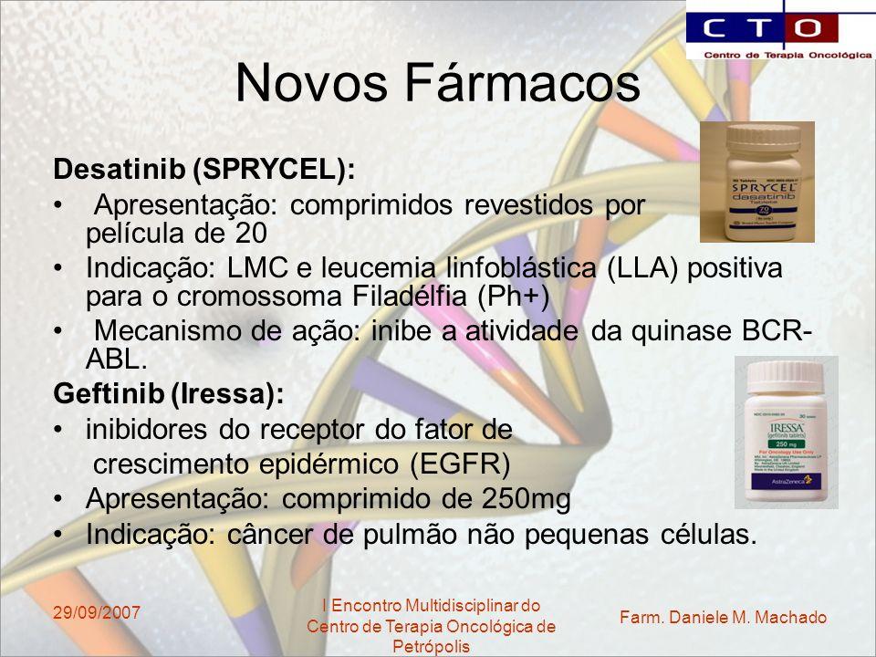 Novos Fármacos Desatinib (SPRYCEL):