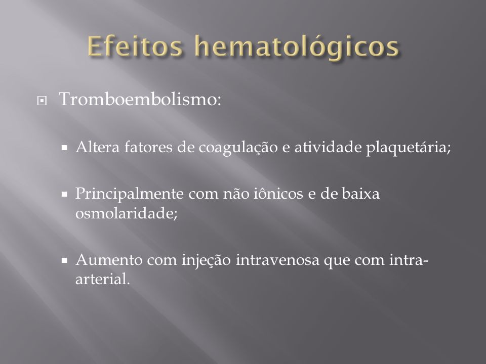 Efeitos hematológicos