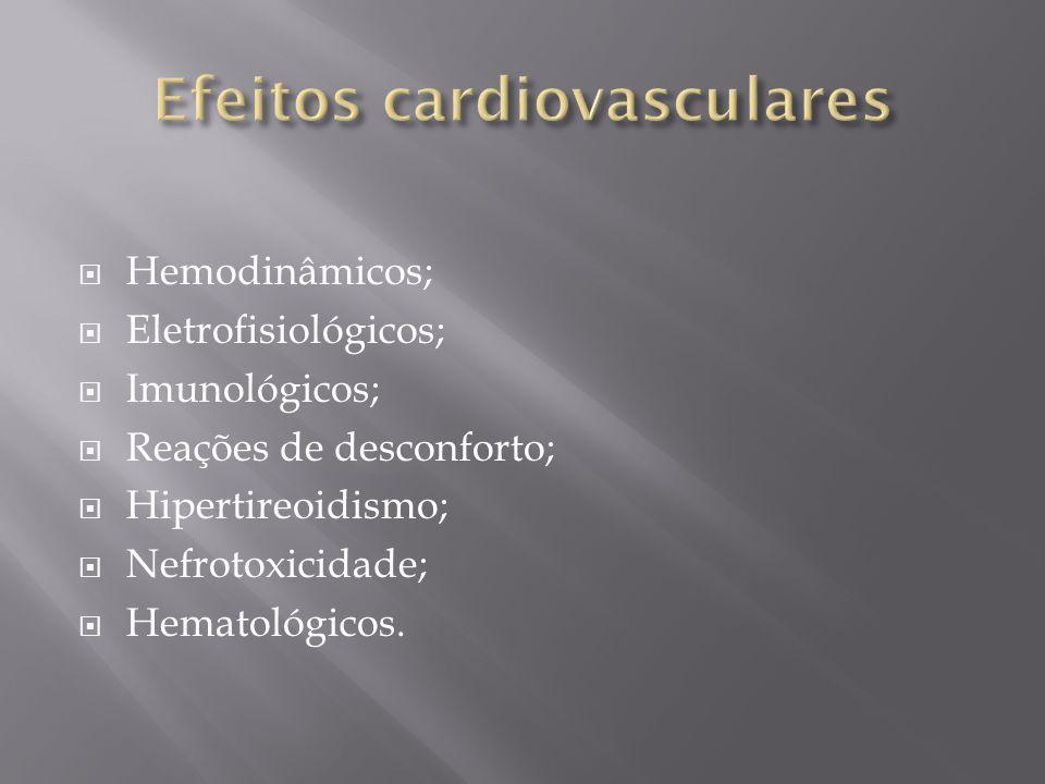 Efeitos cardiovasculares