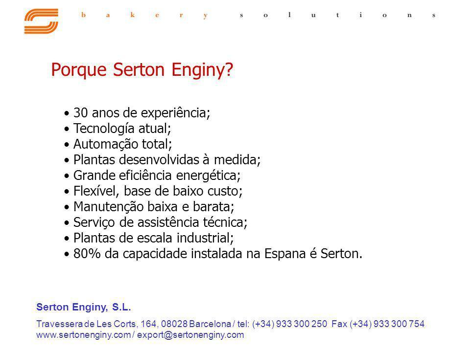 Porque Serton Enginy 30 anos de experiência; Tecnología atual;