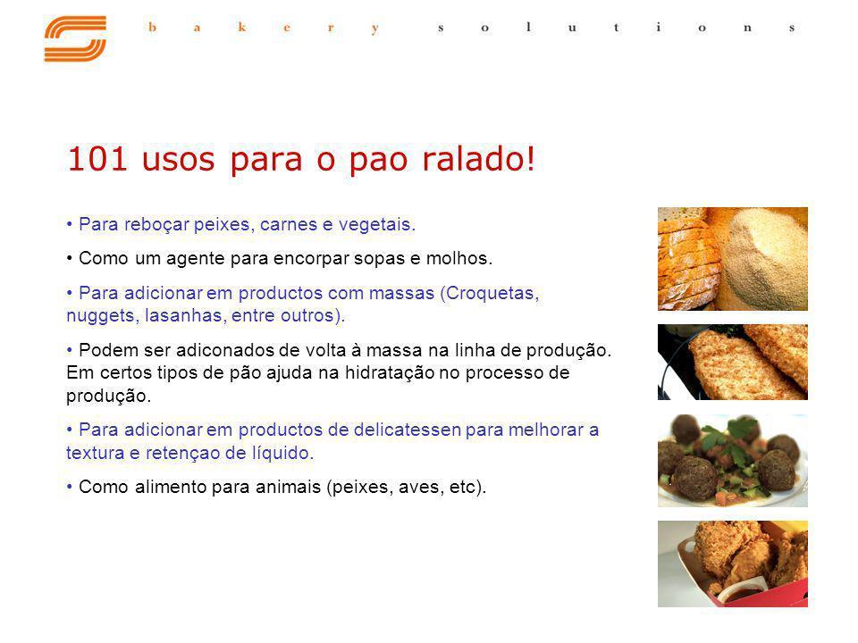 101 usos para o pao ralado! Para reboçar peixes, carnes e vegetais.