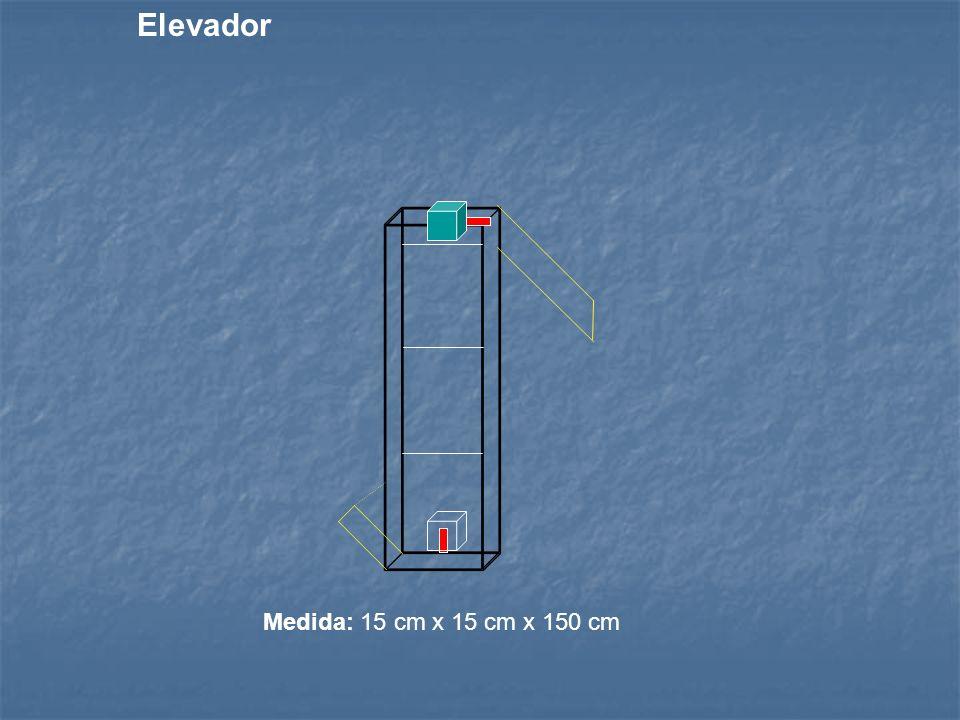 Elevador Medida: 15 cm x 15 cm x 150 cm