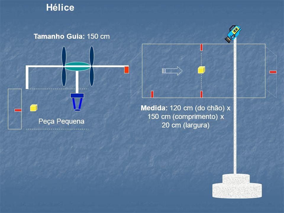 Medida: 120 cm (do chão) x 150 cm (comprimento) x 20 cm (largura)