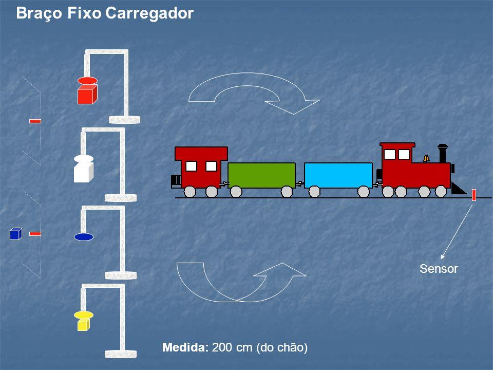 Braço Fixo Carregador Sensor Medida: 200 cm (do chão)