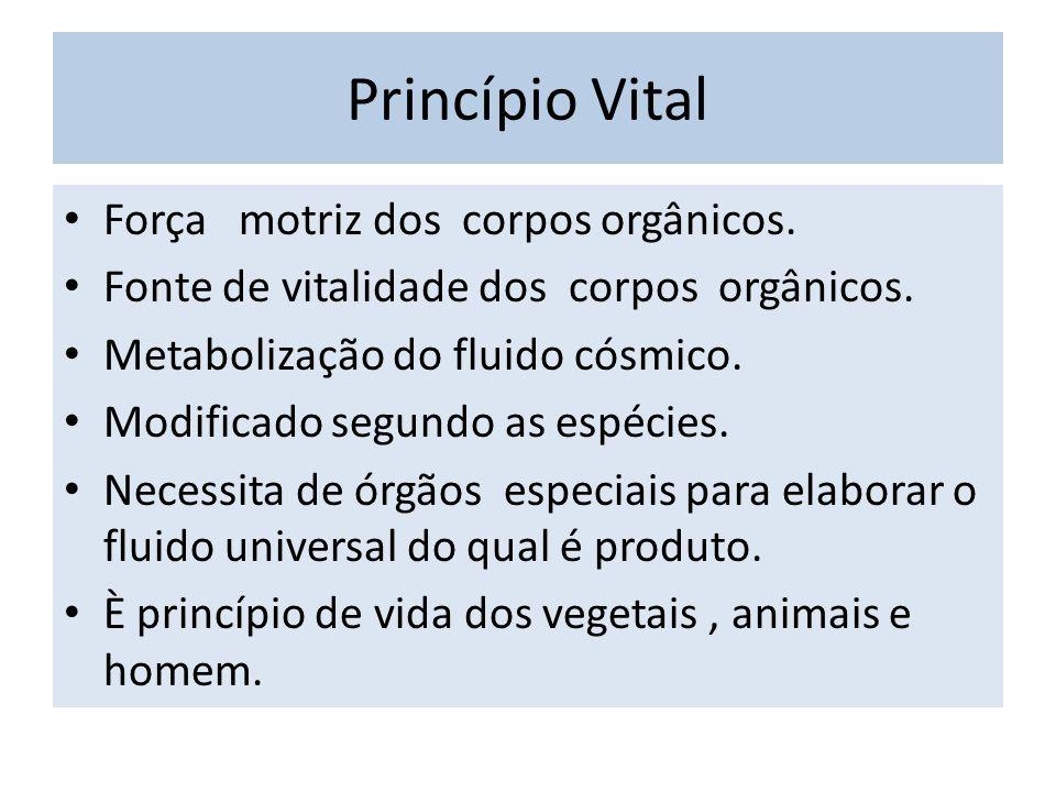 Princípio Vital Força motriz dos corpos orgânicos.