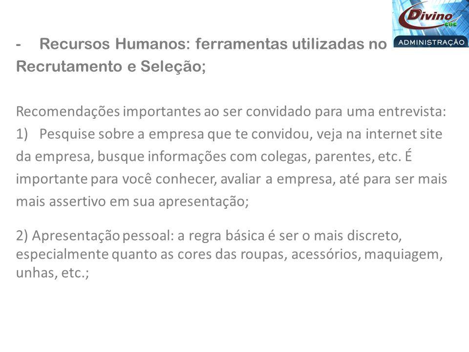 Recursos Humanos: ferramentas utilizadas no