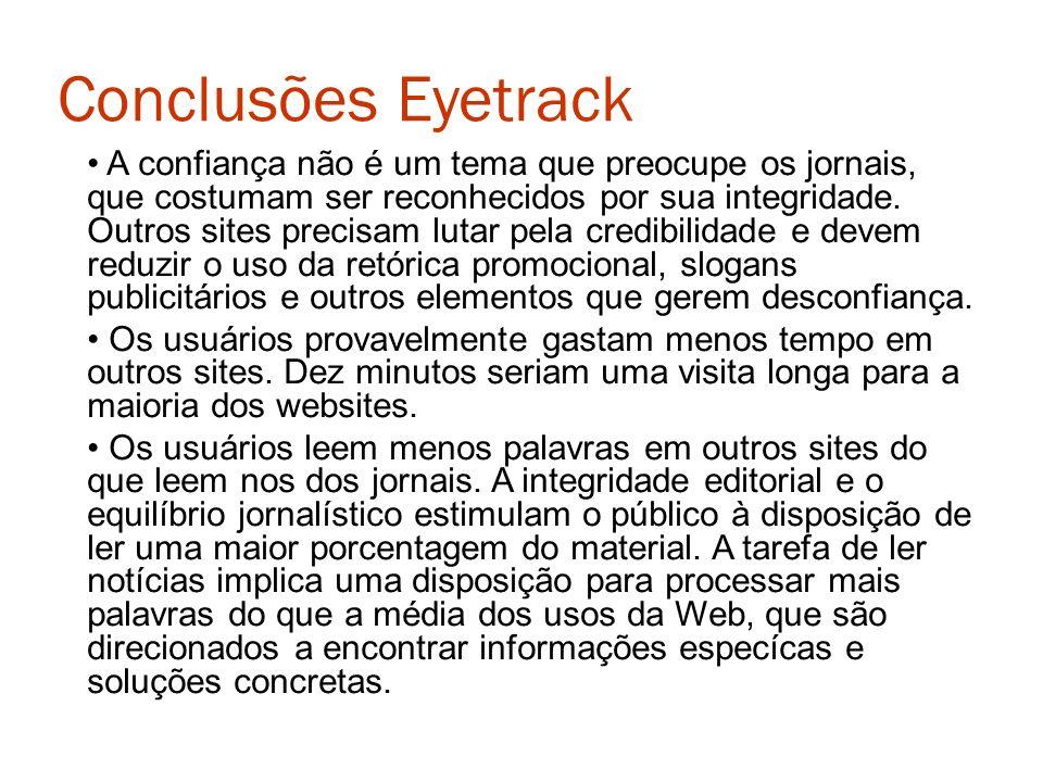 Conclusões Eyetrack