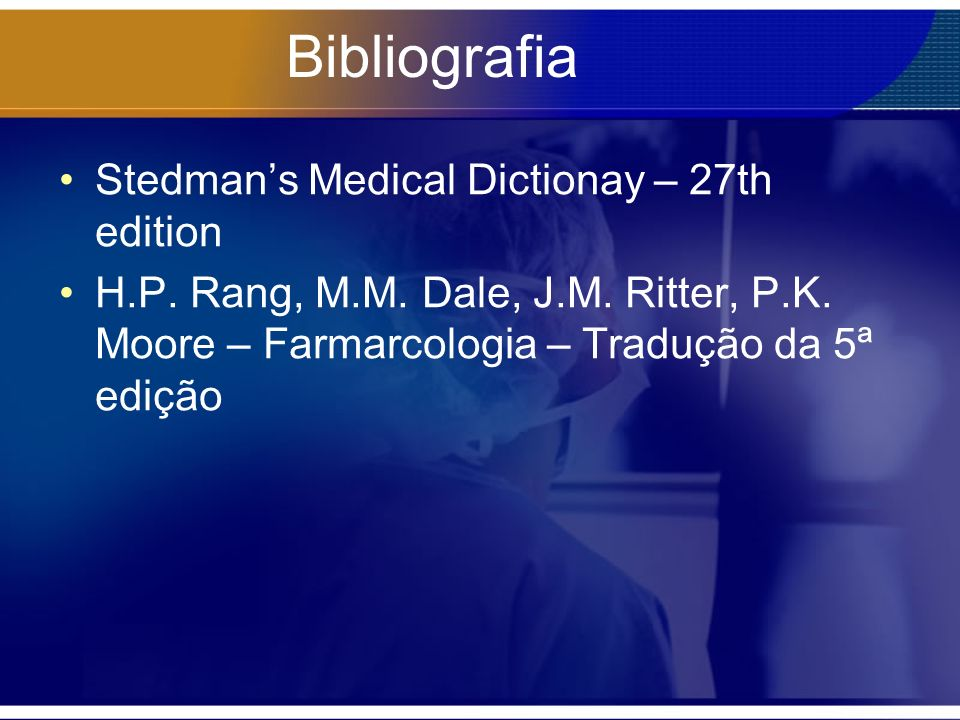 Bibliografia Stedman's Medical Dictionay – 27th edition