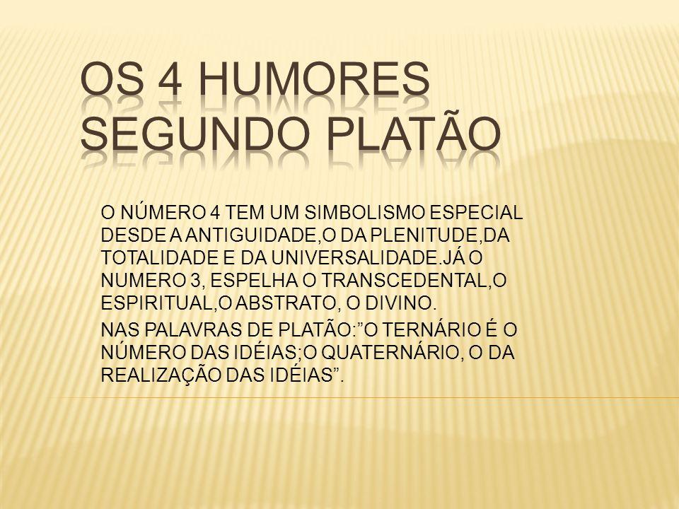 OS 4 HUMORES SEGUNDO PLATÃO