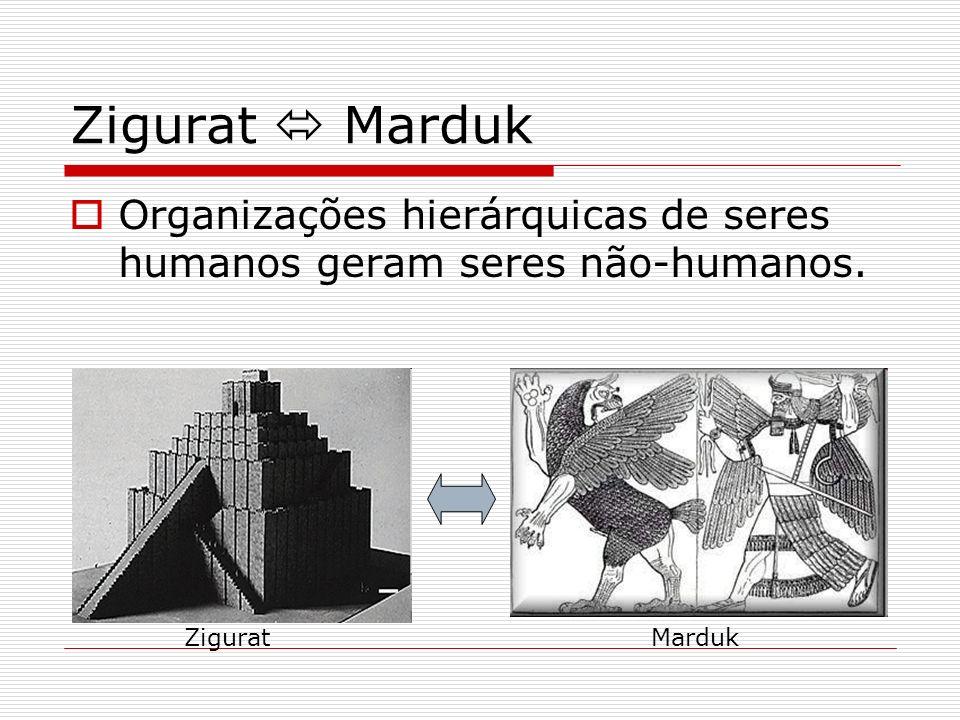 Zigurat  Marduk Organizações hierárquicas de seres humanos geram seres não-humanos. Zigurat Marduk