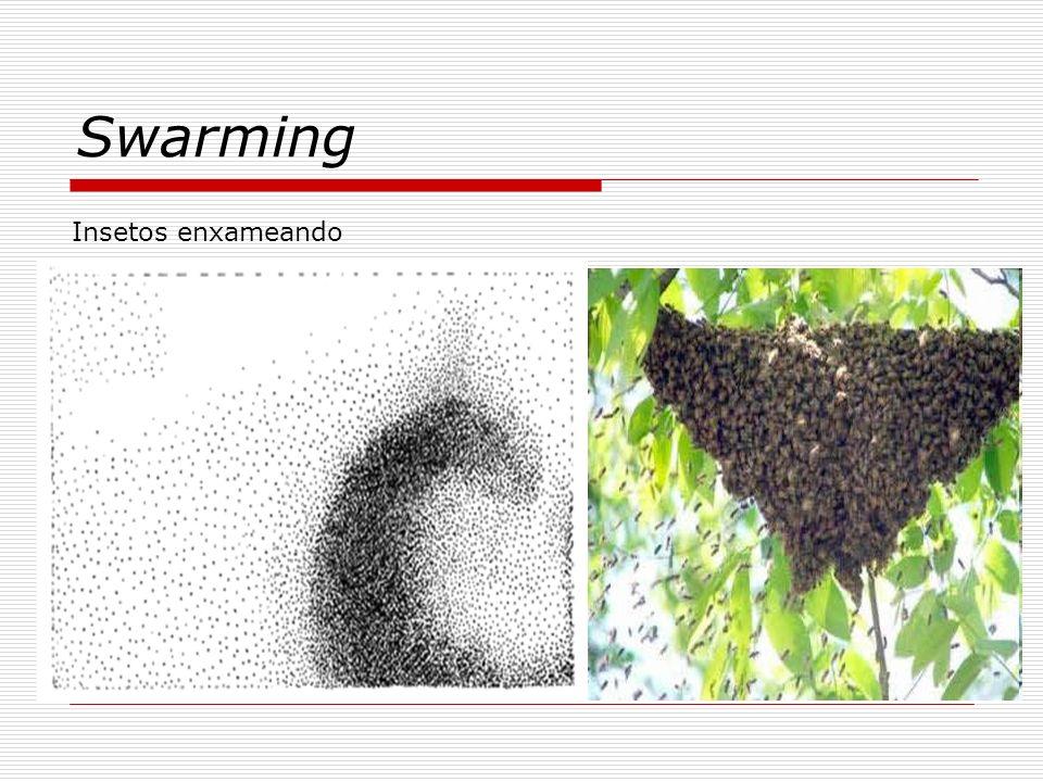 Swarming Insetos enxameando