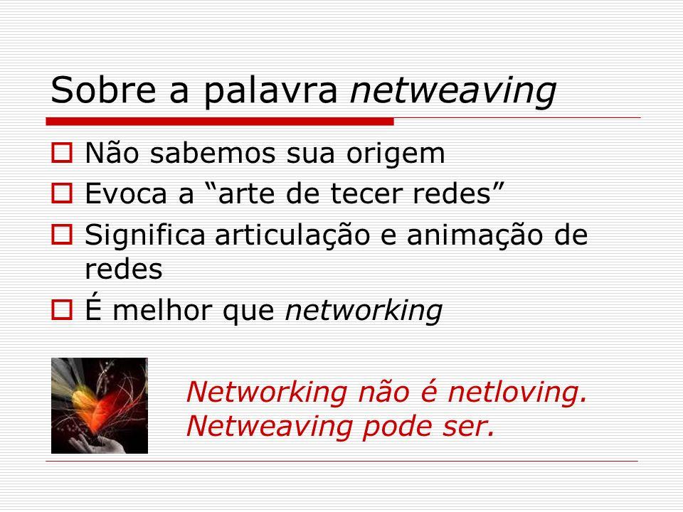 Sobre a palavra netweaving