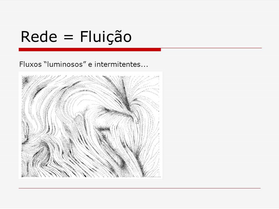 Rede = Fluição Fluxos luminosos e intermitentes...