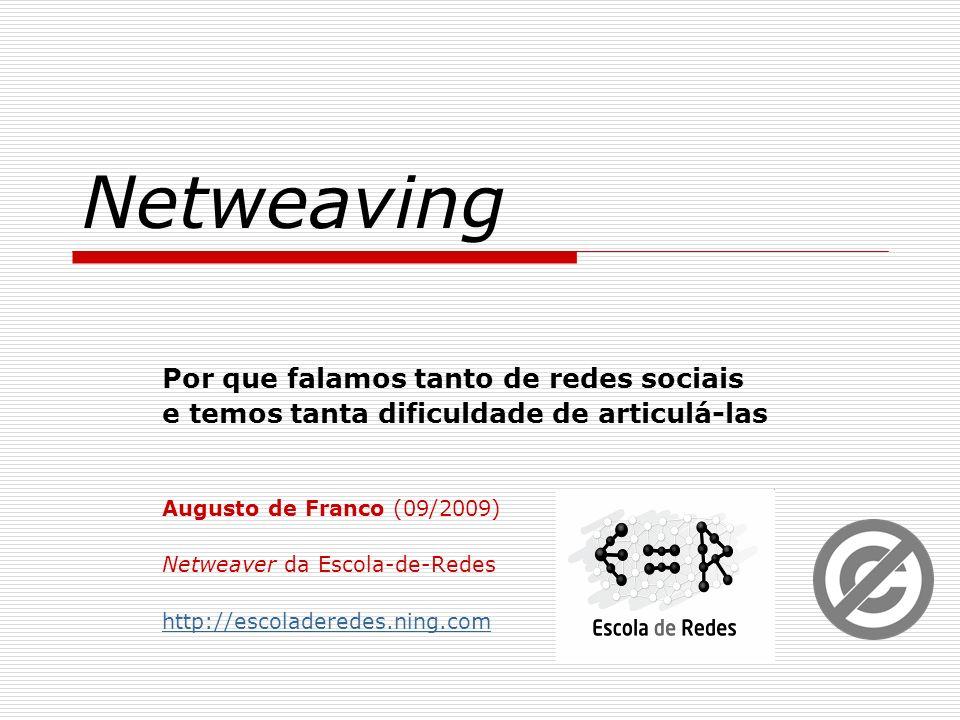 Netweaving Por que falamos tanto de redes sociais