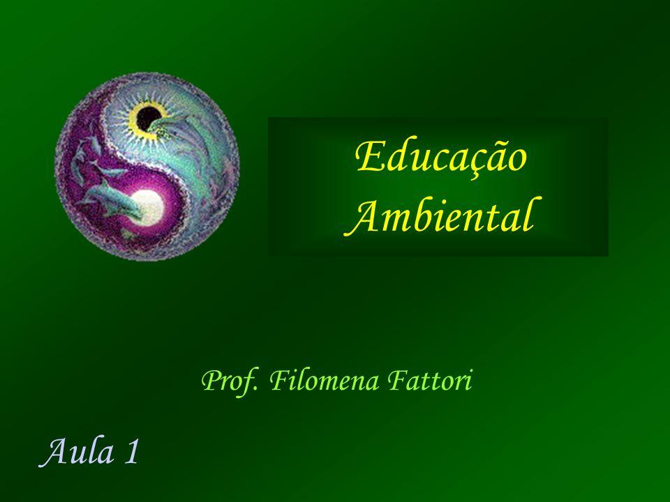 Educação Ambiental Prof. Filomena Fattori Aula 1