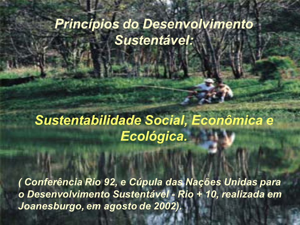 Princípios do Desenvolvimento Sustentável: